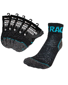 Endurance Merino Sock 5 Pack - Aqua/Black