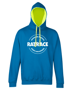 Rat Racer Hoodie - Blue/Electric Yellow
