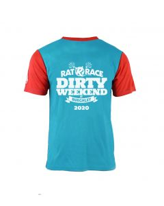 Dirty Weekend 2020 Race Tee - Blue/Red - Customisable