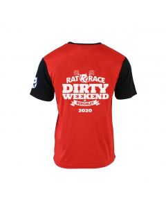 Dirty Weekend 2020 Race T-Shirt - Red/Black - Customisable