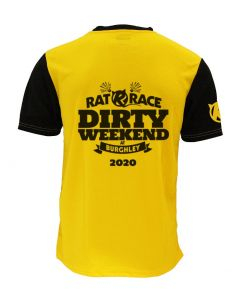 Dirty Weekend 2020 Race Tee - Yellow/Black - Customisable