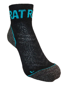 Endurance Merino Sock - Blue/Black