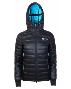 Kids Challenger Thermal Jacket - Black/Aqua- Size 13 – 14 years