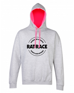 Rat Racer Hoodie - Grey/Electric Pink