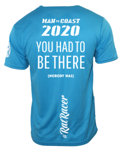 Man Vs Coast 2020 - Virtual Run T-Shirt - Blue