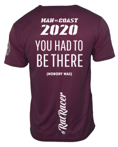 Man Vs Coast 2020 - Virtual Run T-Shirt - Plum