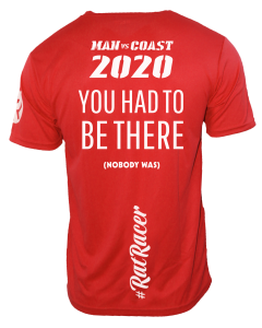 Man Vs Coast 2020 - Virtual Run T-Shirt - Red
