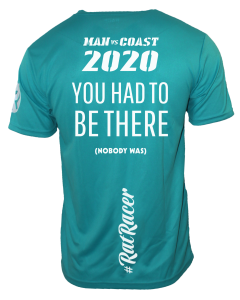 Man Vs Coast 2020 - Virtual Run T-Shirt - Turquoise