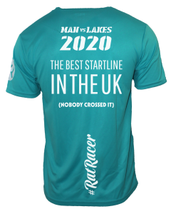 Man Vs Lakes 2020 - Virtual Run T-Shirt - Turquoise