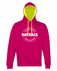 Rat Racer Hoodie - Hot Pink/Electric Yellow