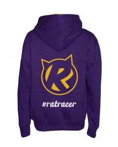 Kids Rat Racer Hoodie - Purple/Yellow