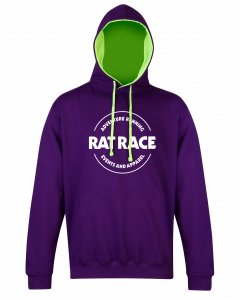 Rat Racer Hoodie - Purple/Electric Green