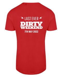 Dirty Weekend 2022 - Eco Tech Tee - Red