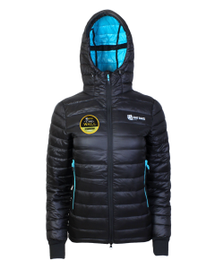 Women's Challenger Thermal Jacket - Black/Aqua - With Event Patch