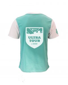 Ultra Tour Arran 2020 - Race T-Shirt - Aqua/White - Customisable