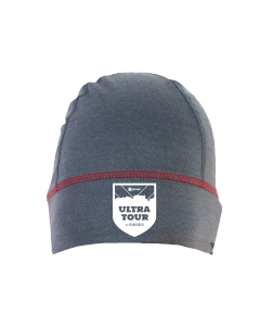 Rat Race - City to Summit Merino Beanie - Grey/Red - Ultra Tour of Edinburgh
